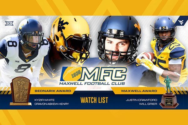MFC graphic - Kyzir White, Dravon Askew-Henry, Justin Crawford, and Will Grier added to Play of the Year watch list