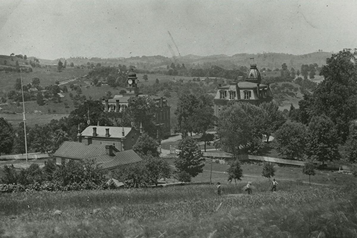 WVU Campus in 1878