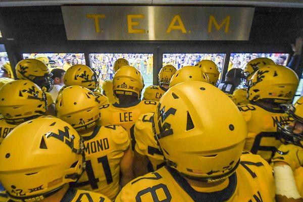 gold football helmets