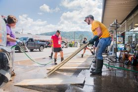 WVU students help out after the June 23 floods