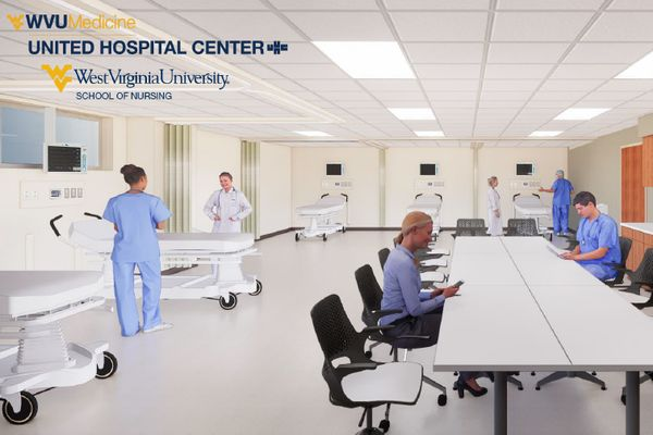 artists's rendering of a classroom