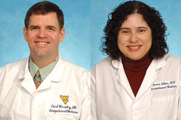 Composite photo of Dr Carl Werntz and Dr. Anna Allen