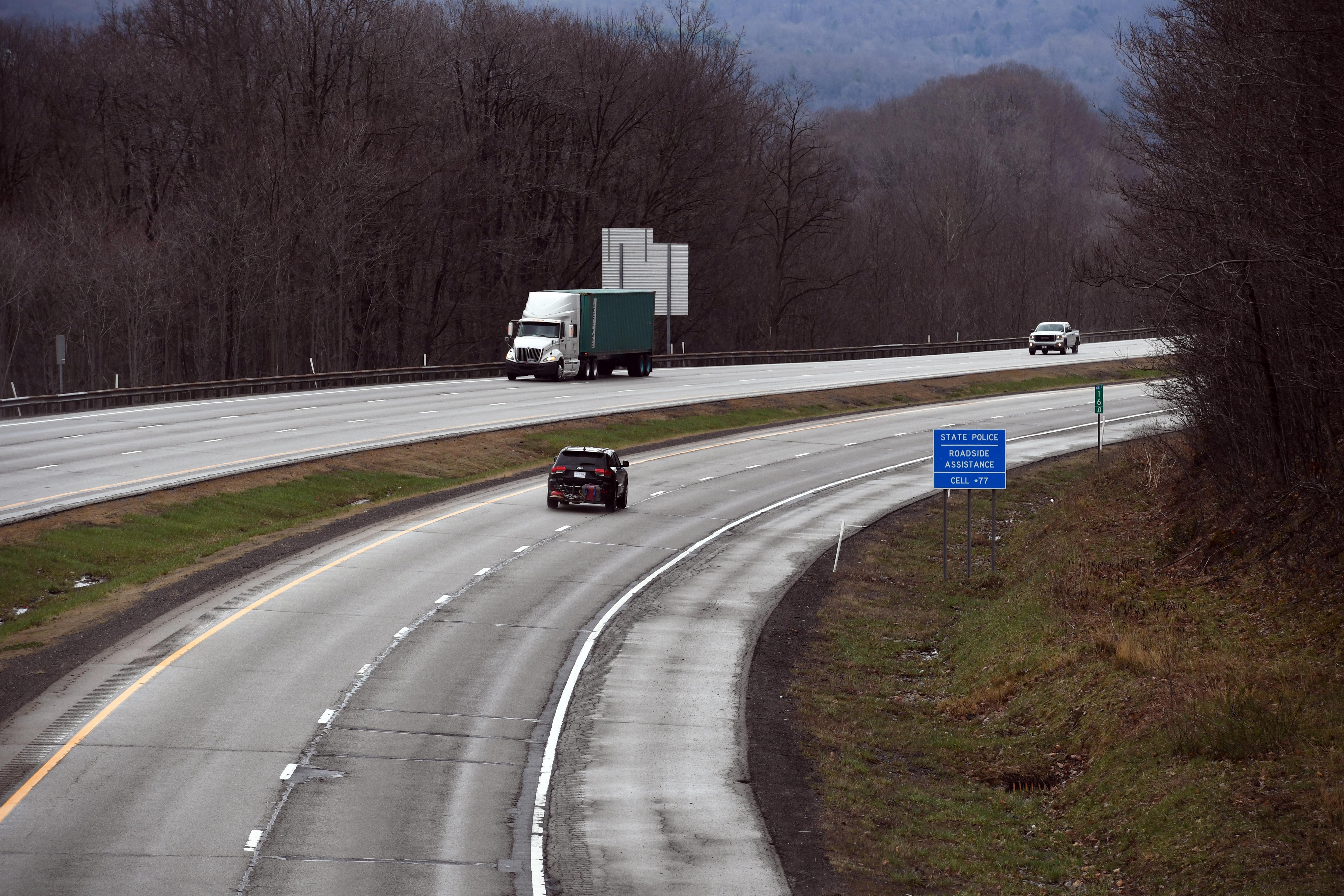 Corner of a highway