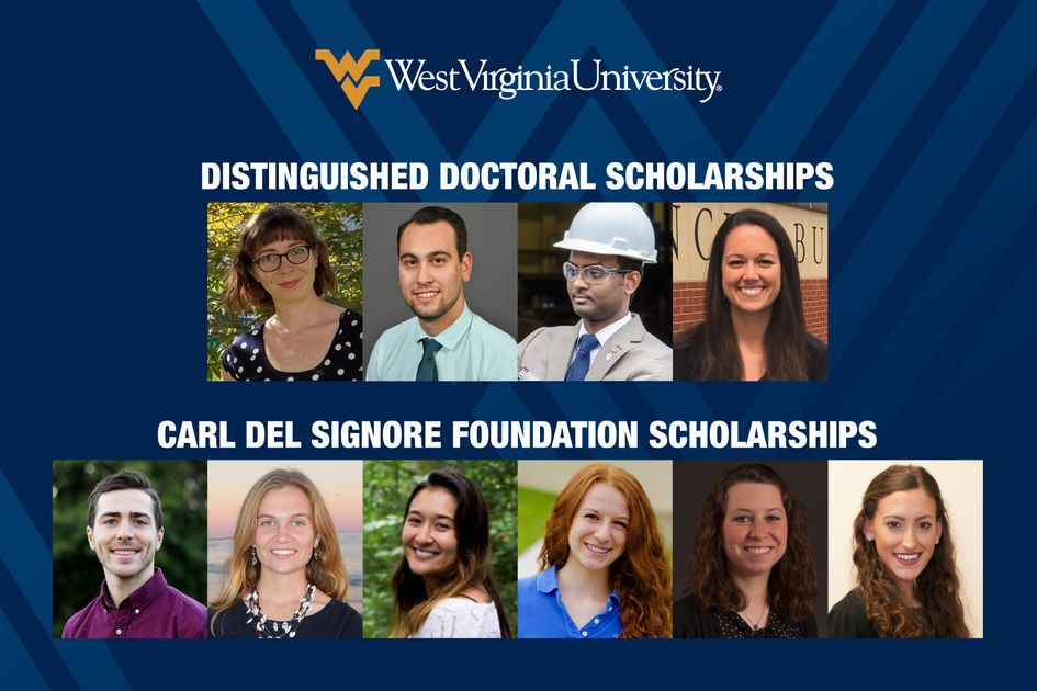 Composite of 10 scholarship winners.