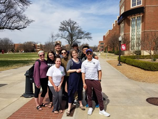 Group of students posing outside.