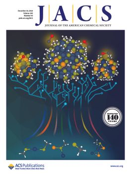Cover of the Journal of the American Chemical Society magazine with illustration of molecular tree
