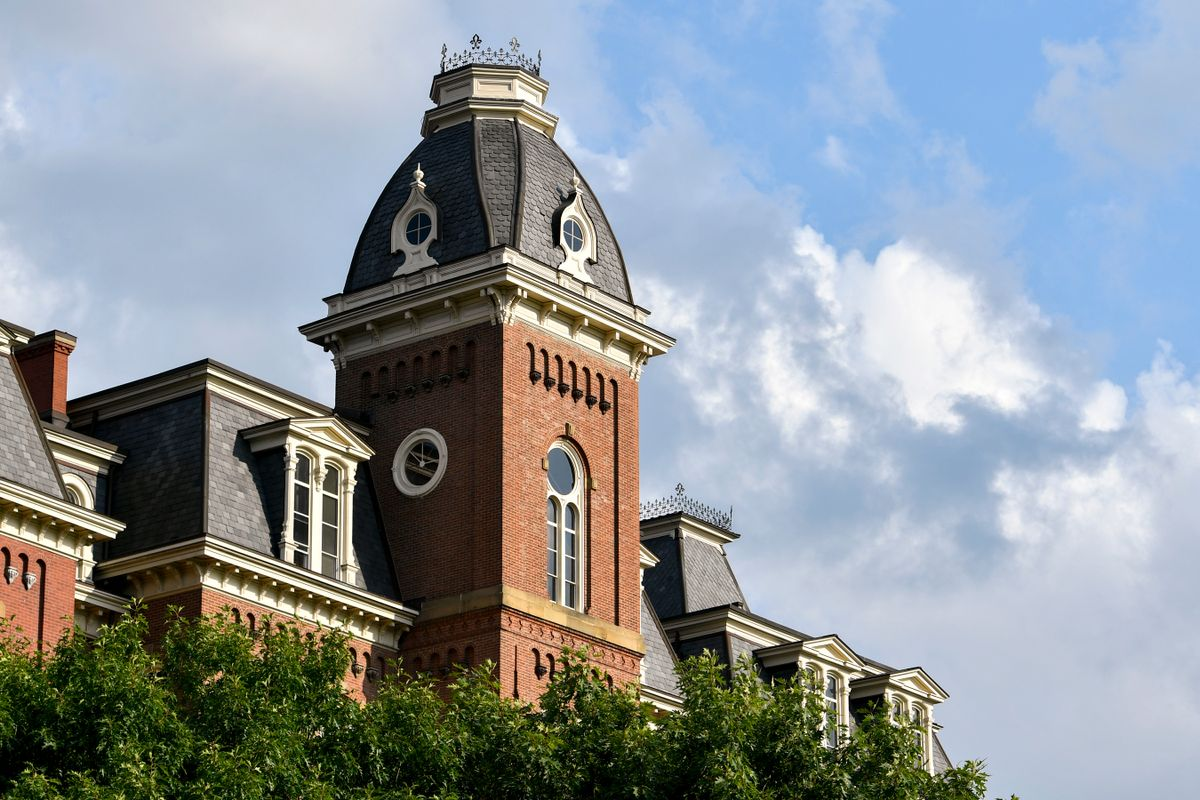 clock tower of large brick building