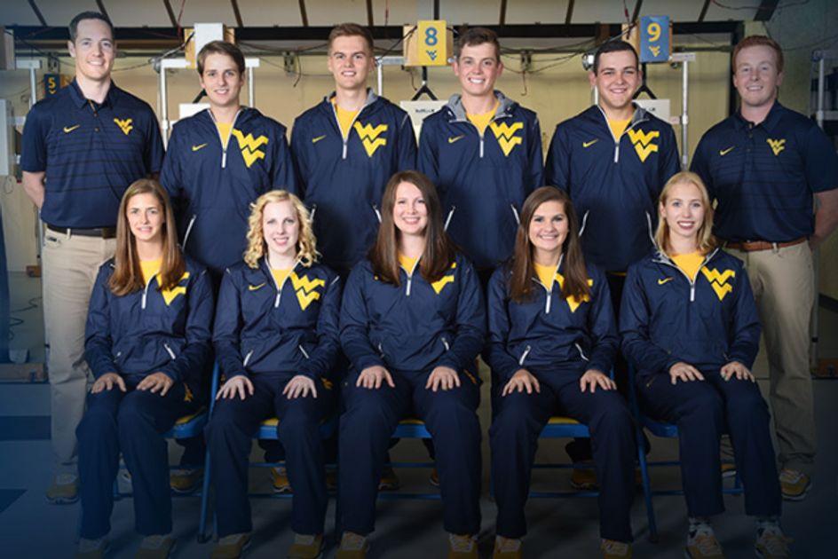 Members of the WVU rifle team