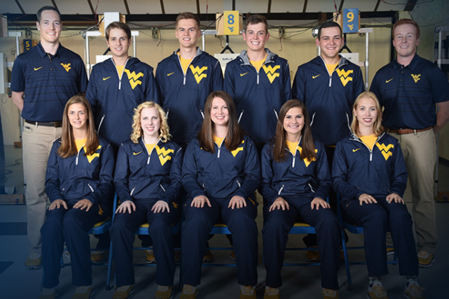 Members of the WVU rifle team