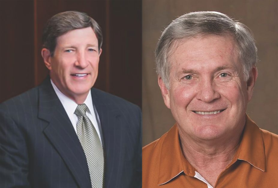 Dr. John Ivy and Coach Mack Brown