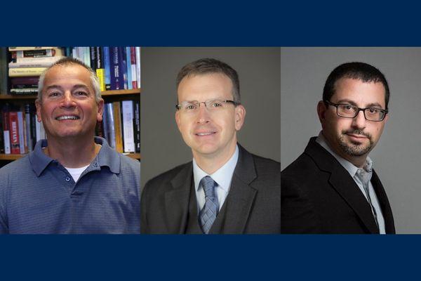 three men in a composite