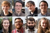 Headshot collage of the eight student recipients of the NASA Space Grant fellowship scholarship