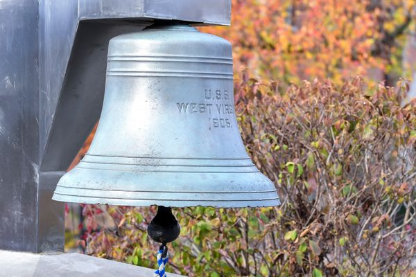 Bell of the U.S.S. West Virginia on the campus of West Virginia University