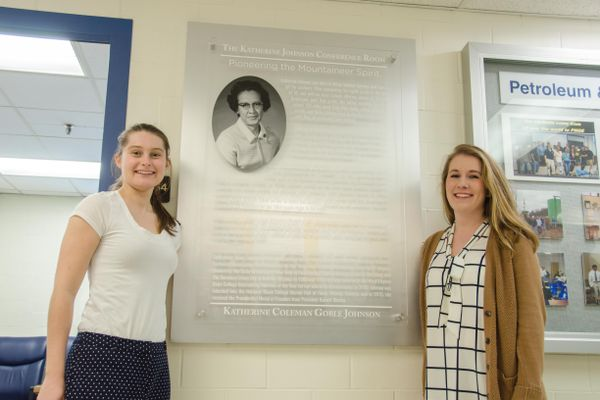 Savannah Lusk, Morgan King; Katherine Johnson Conference Room