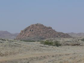A mound of reddish-brown rubble
