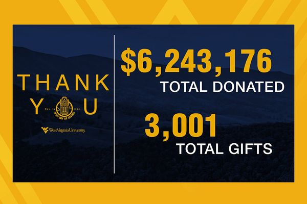 WVU Foundation Day of Giving thank you graphic
