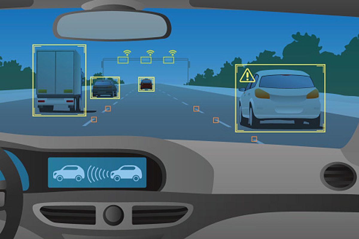 Autonomous vehicle graphic