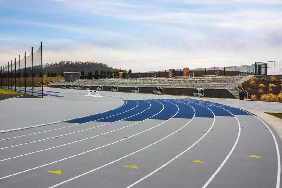 A track and field complex.