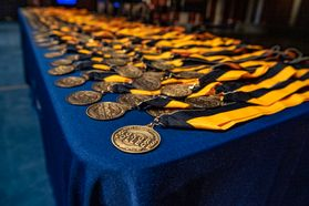 medals on a table