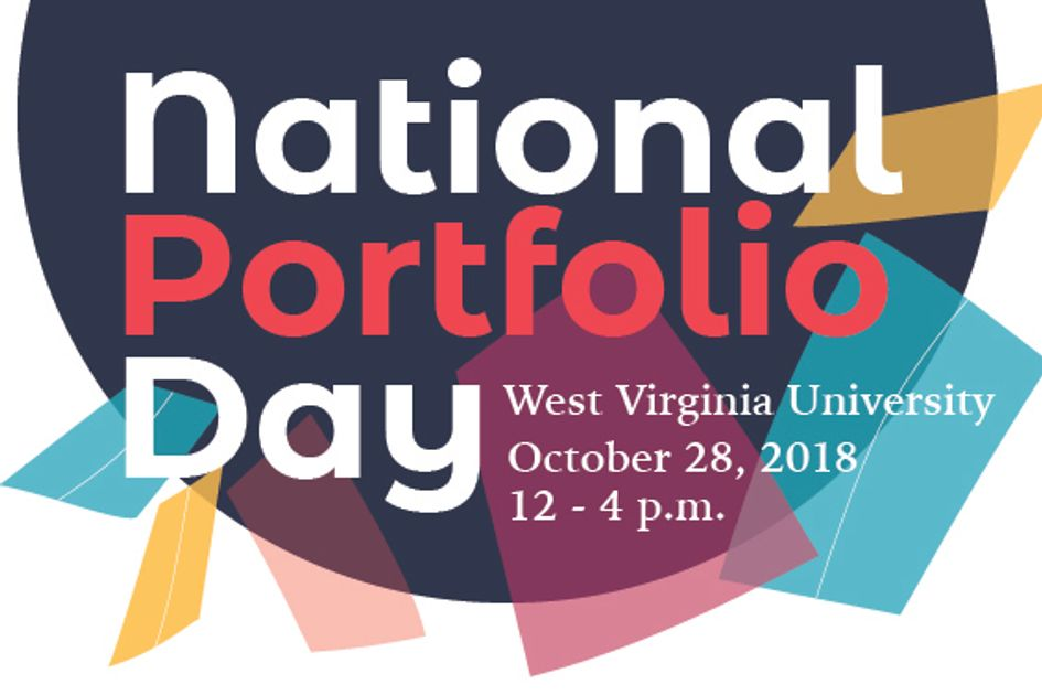 Graphic for National Portfolio Day at WVU