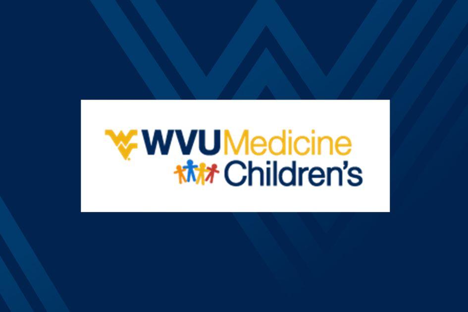 WVU Medicine Children's logo on blue WV background