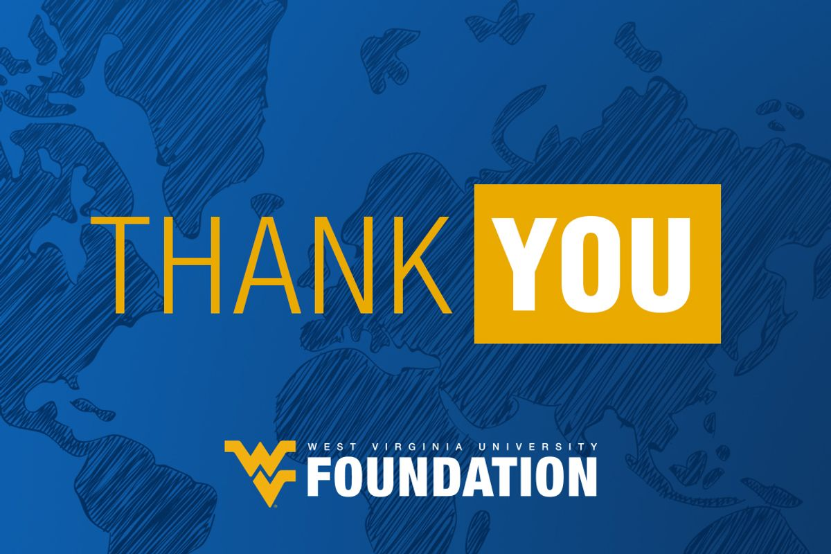 Thank you from the WVU Foundation