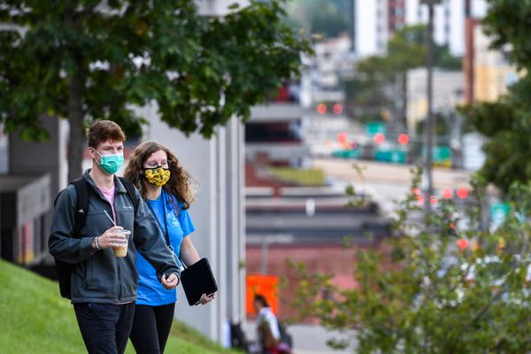 masked people outside