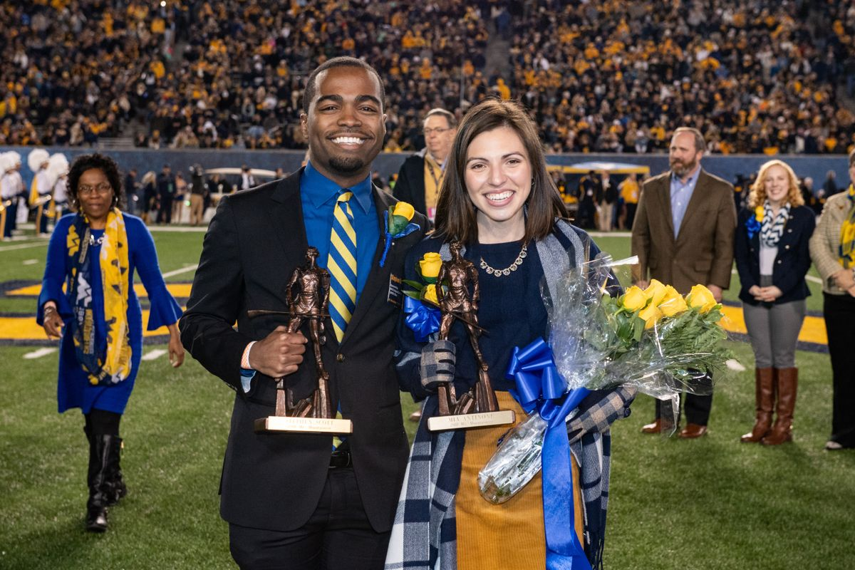 Stephen Scott and Mia Antinone are named Mr. and Ms. Mountaineer 2018