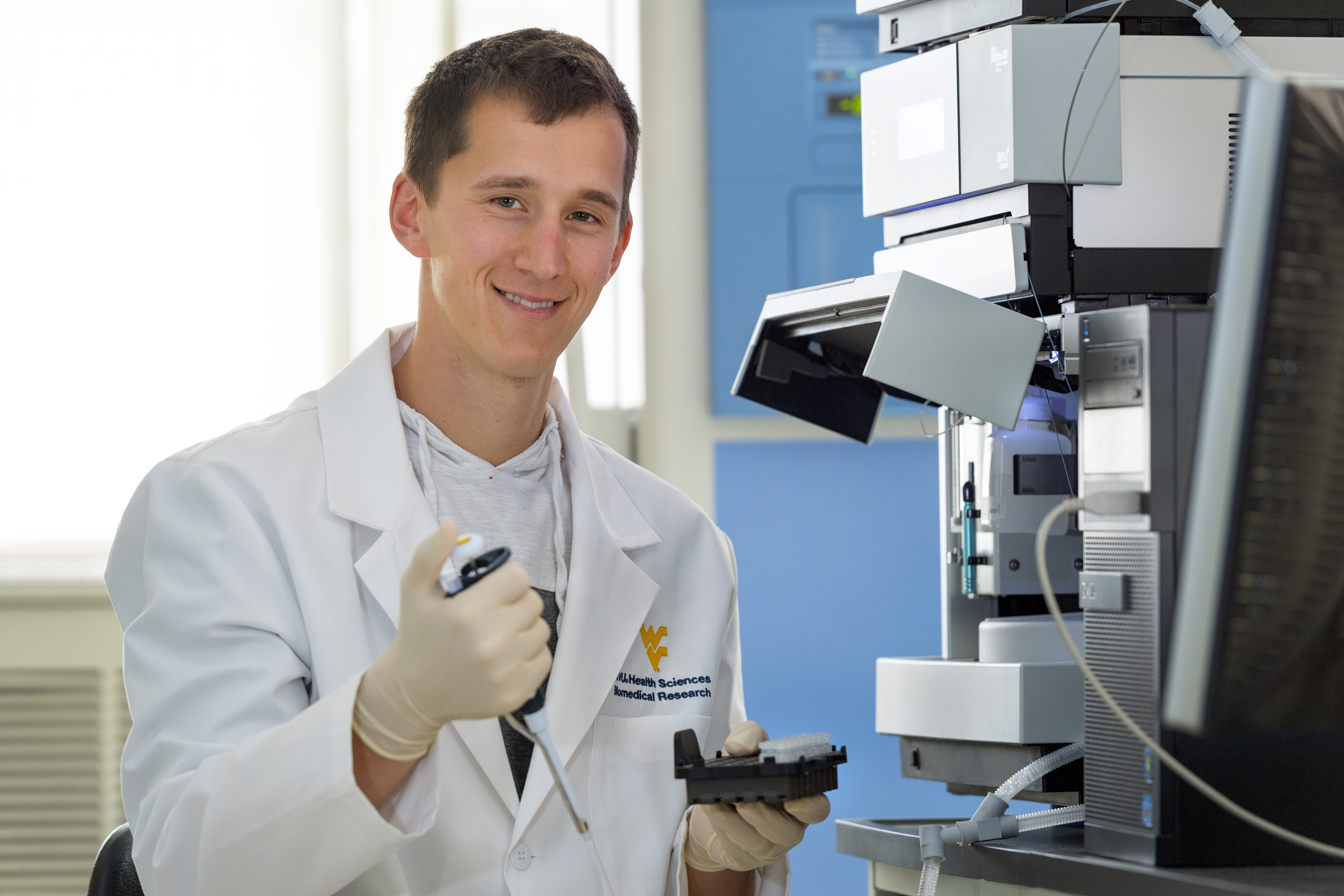 Joshua Gross, a doctoral candidate in the WVU School of Medicine, has received an NIH grant to study a protein that influences the brain's response to psychostimulant drugs.