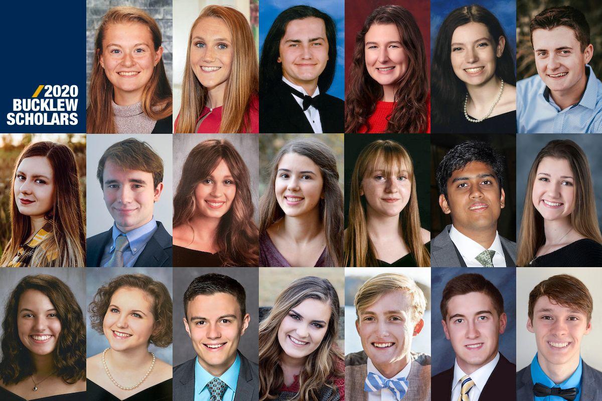 collage of twenty headshots of young adults