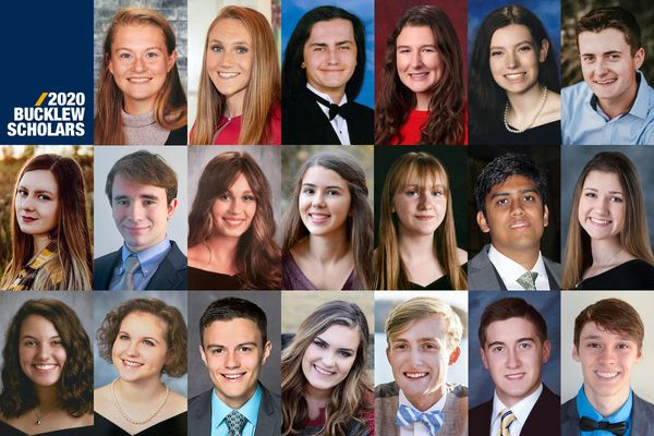 collage of twenty headshots of young adults