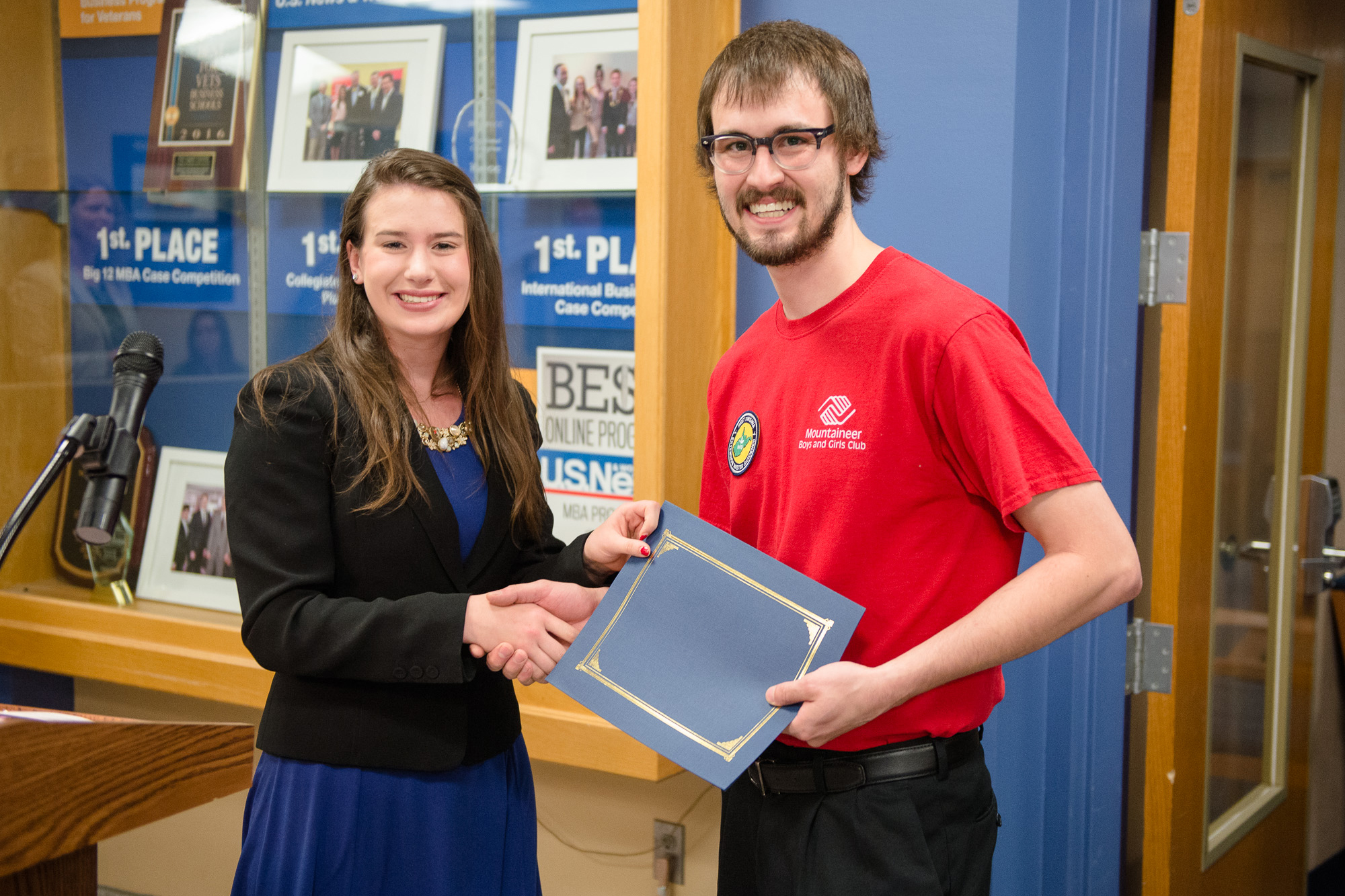 Each year, the Corporate Social Responsibility course within the WVU College of Business and Economics awards grants between $300 and $3,000 to nonprofits organization in the greater Morgantown community.