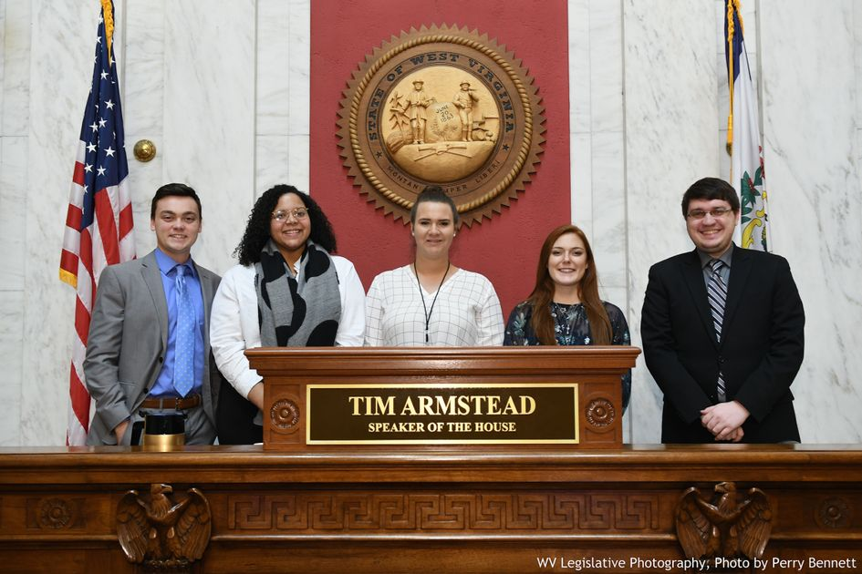 From left to right: Sam Ollis, Mikael Huffman, Morgan Wilkes, Allie Hildebrand, and Lonnie Long.