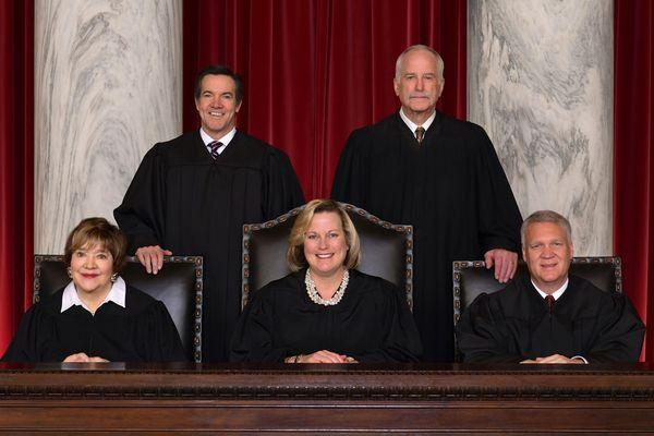 Five judges, women and three men