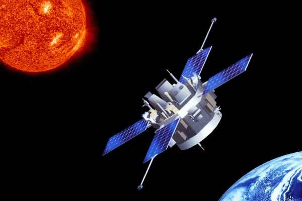 satellite between sun and Earth
