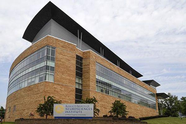 Exterior of the WVU Rockefeller Neurosciences Institute