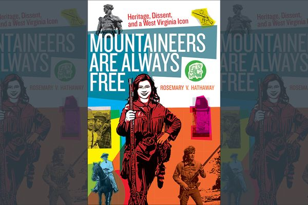 book cover with female Mountaineer
