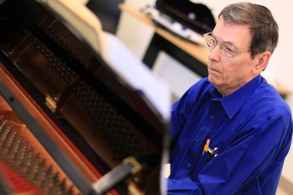 Dr. Miltenberger at piano