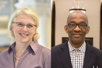 An unprecedented two scholars from West Virginia University have received the top fellowship from the National Endowment for the Humanities.  Katherine Aaslestad and Tamba M'bayo, both professors in the Department of History, will each receive $60,000 for