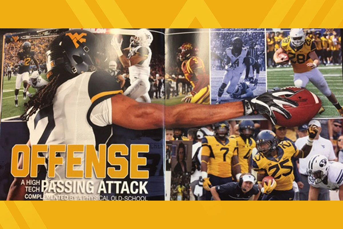 WVU football media guide spread - Offense passing attack
