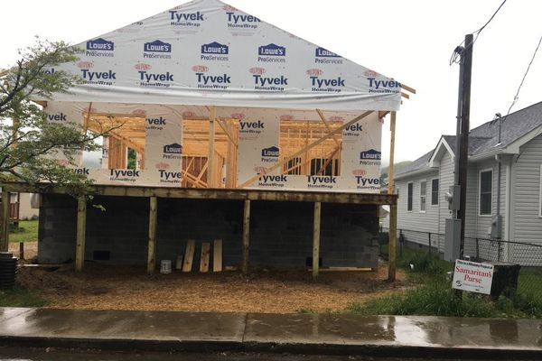 House in the middle of a remodel from flooding disaster