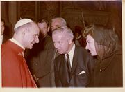 Congressman Moore and Shelley Moore meet Pope Paul VI.