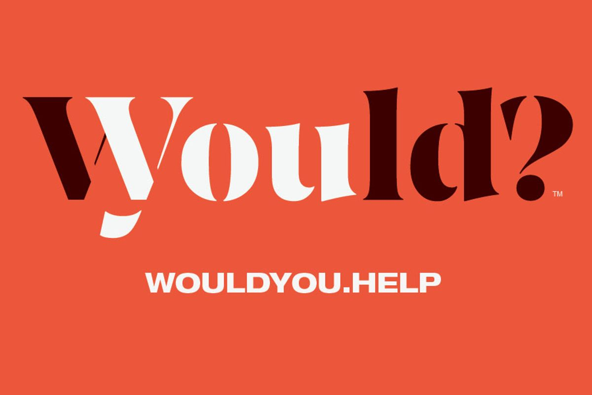 wordmark for Would You? Campaign