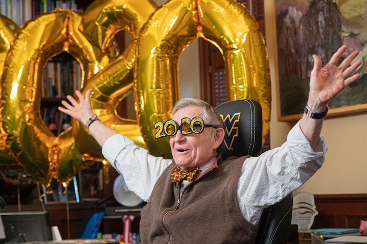 President Gordon Gee celebrates the arrival of 2020.