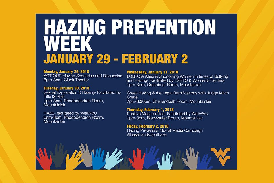 Hazing Prevention Week graphic - January 29-February 2