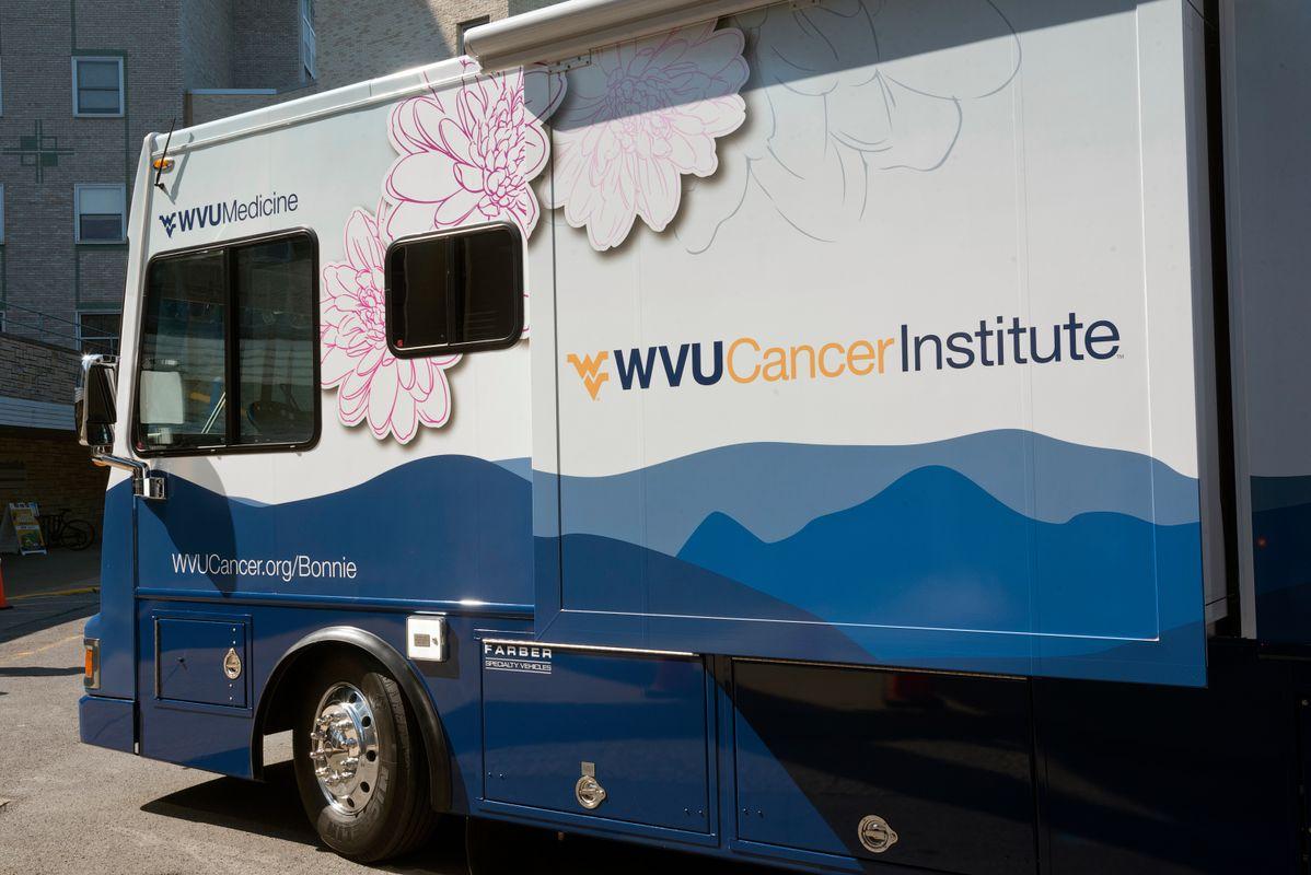Photograph of WVU Cancer Institute Bonnie's Bus