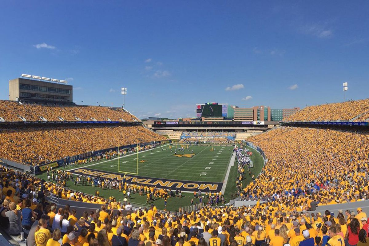 stadium full of people.
