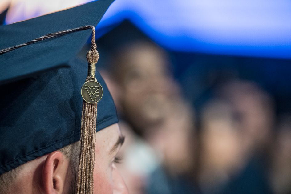 Young man with mortarboard and tassel