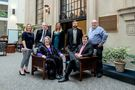 Honors Faculty Fellows 2018 in group, two are seated, five are standing