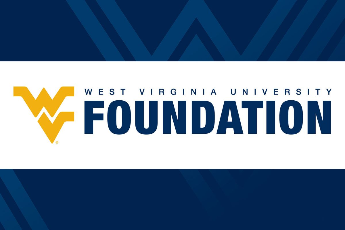 graphic for WVU Foundation on blue backgroun d